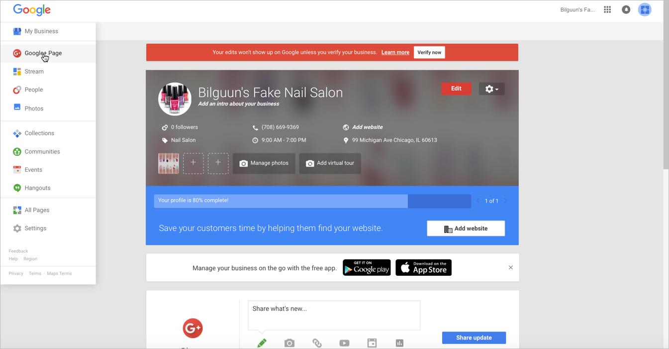 Nail Salon Marleting: Google Advertising Page