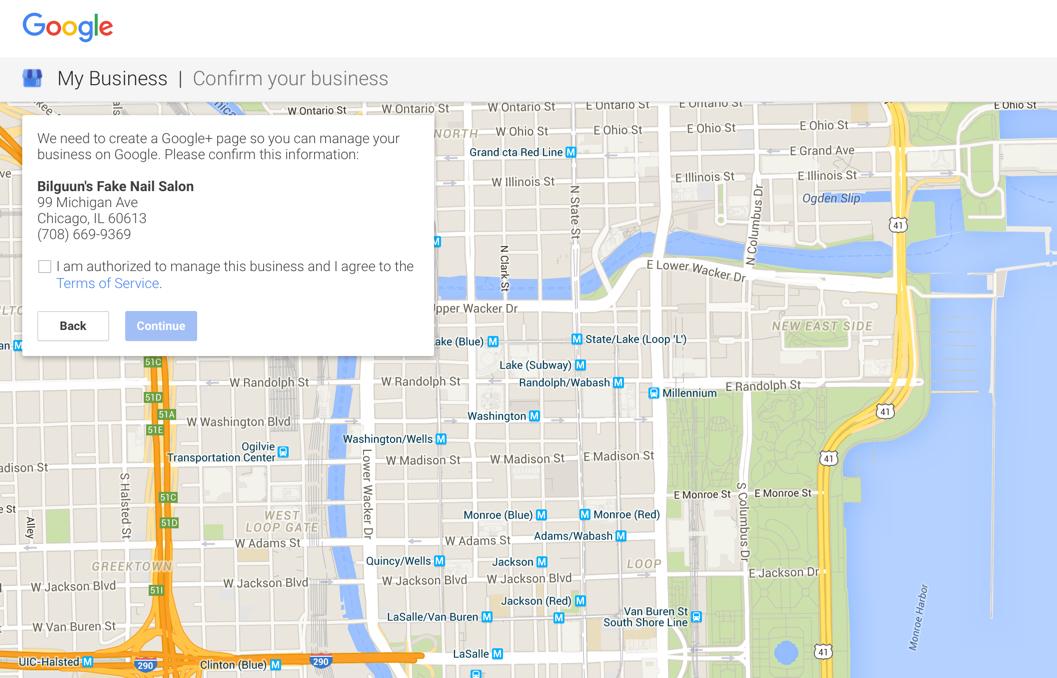 Nail Salon Confrimation on Google My Business