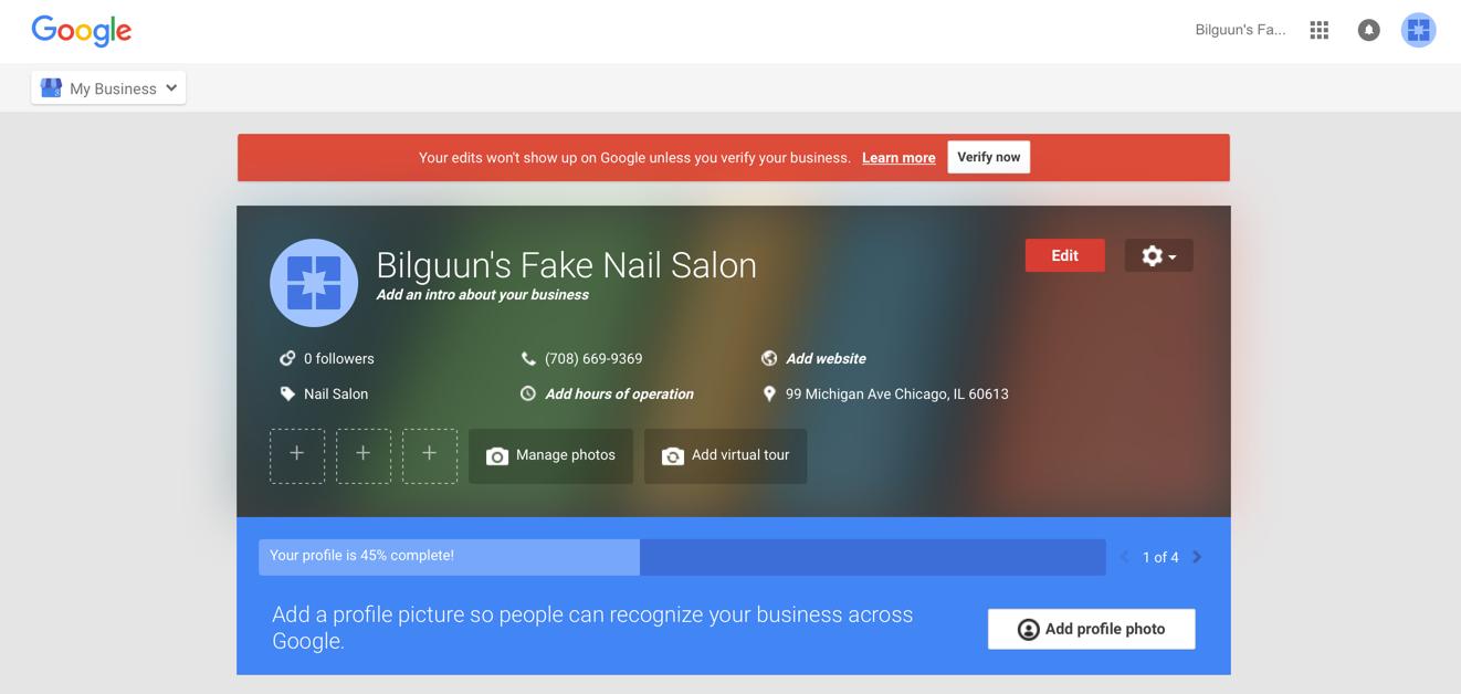 Verify Nail Salon