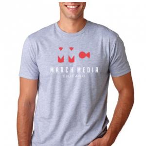 Grey Men's T-Shirt: March Media Chicago