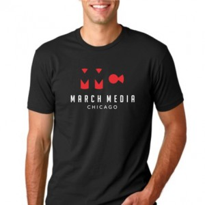 March Media Chicago: Men's Black T-Shirt