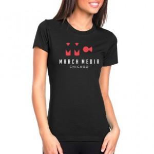 "March Media Chicago"" Women's Black T-Shhirt"